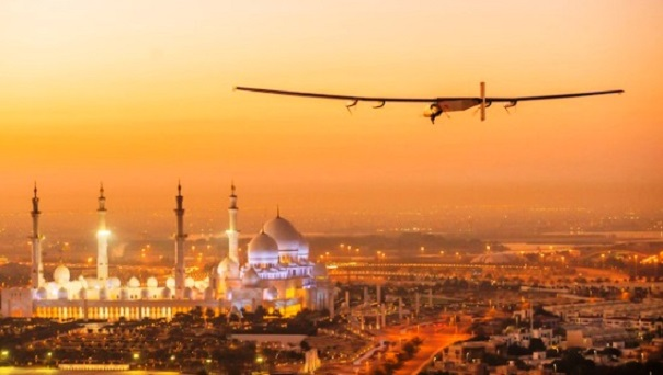 First Test Flight of Solar Impulse in Abu Dhabi, United Arab Emirates